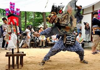 澤井八雲神社獅子舞写真展